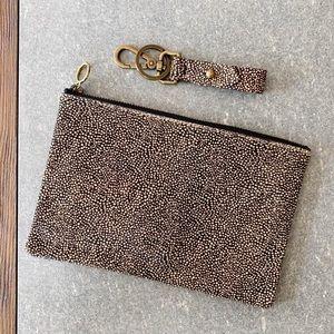 🍂 MADEWELL Cowhide & Leather Pouch & Key Fob NWT